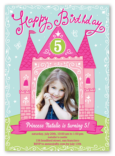 Shutterfly Birthday Invitation Girl Princess Party