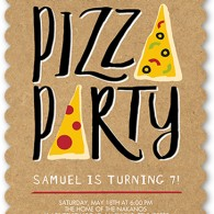 shutterfly birthday invitation pizza party