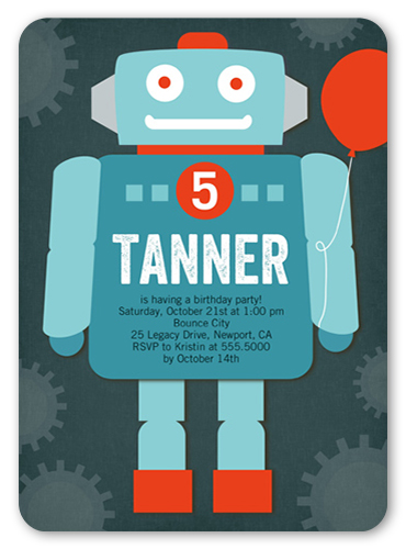 shutterfly birthday invitations robot