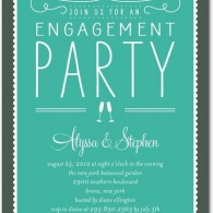 simple personalized engagement party invitations