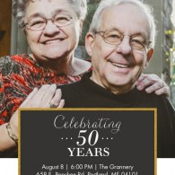 snapfish 50th anniversary invitations with photo