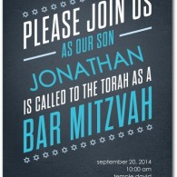 bar mitzvah invites stylish modern discount custom