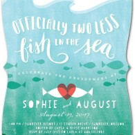 two less fish in the sea invitations