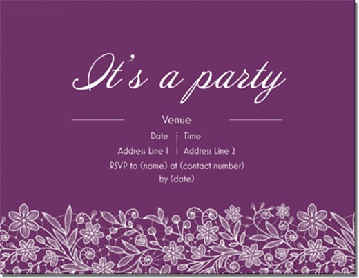 vistaprint custom engagment party invitations floral