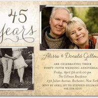 wedding anniversary party invitations 2 photos