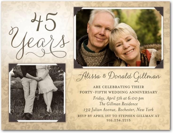 wedding anniversary party invitations 2 photos