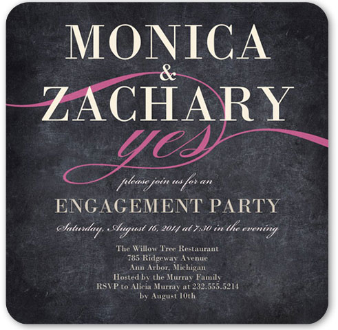 yes inexpensive engagement party invitations