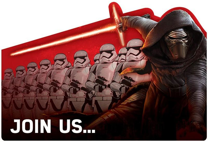 force awakens cheap party invitations