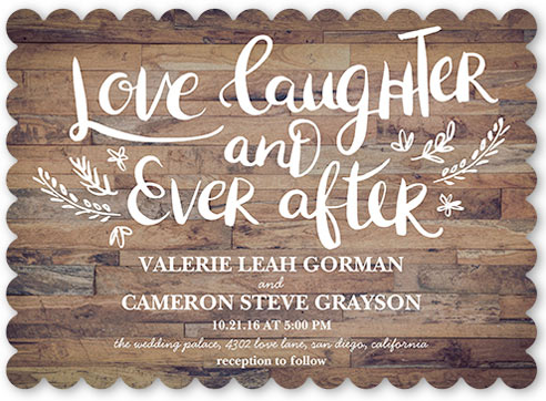 free wedding invites samples shutterfly love laughter