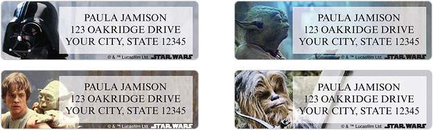star wars address labels