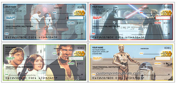 star wars personal bank checks