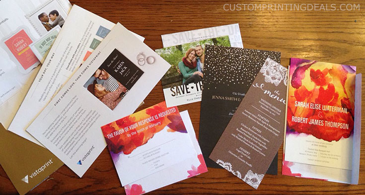 Vistaprint free wedding samples 3 free invitations save for Best paper for wedding invitations vistaprint