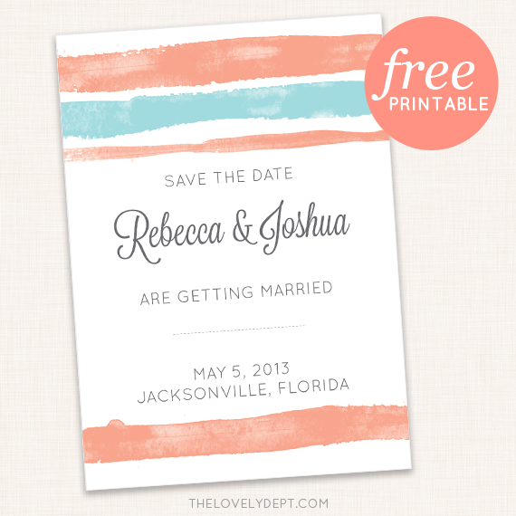 graphic relating to Free Printable Save the Date Templates identify 8 Cost-free Printable Preserve the Dates: Yet, Should really Your self Print Your Individual?