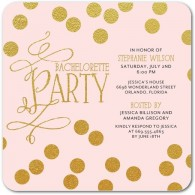 bachelorette party invitations polka dot with round corners