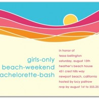 bachelorette party invitations wedding diva beach theme