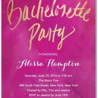 bachelorette party invitations wedding diva foil