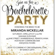 bachelorette party invitations wedding divas itinerary