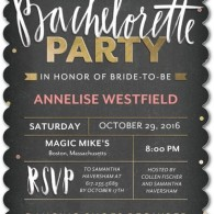 bachelorette party itinerary chalkboard