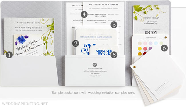 Free Sample Printing Wedding Paper Divas