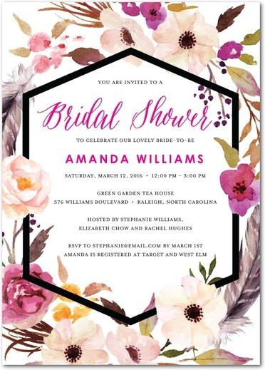 Wedding Divas Bridal Shower Invite Floral