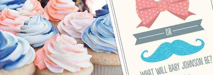 Baby Shower Gender Reveal Invitation Ideas + Party Games: Boy or Girl?