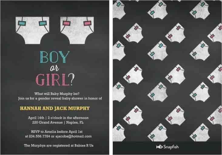 boy or girl baby shower snapfish