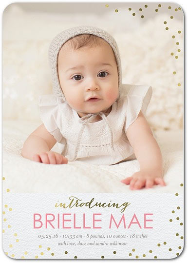 coupon tiny prints birth announcements girl