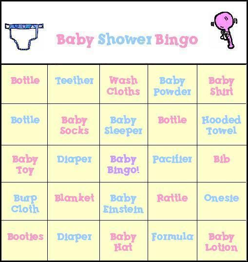 This is a photo of Witty Printable Baby Bingo Cards