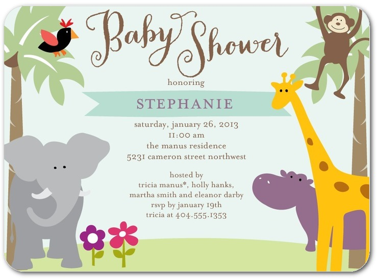 gender neutral baby shower invitation idea