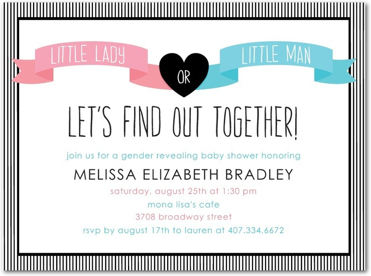 gender reveal baby shower lets find out Custom Printing Deals – Baby Gender Reveal Party Invitations