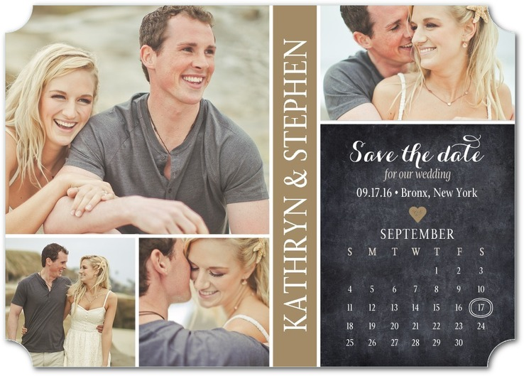 sample save date design with calendar