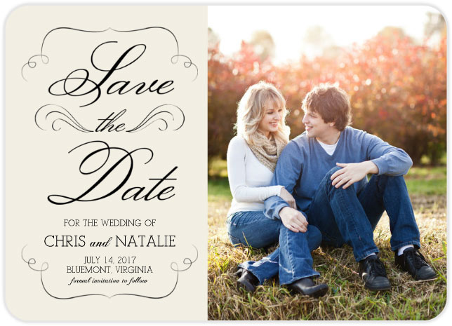 simple save date design mixbook