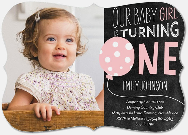 tiny prints first birthday invitations