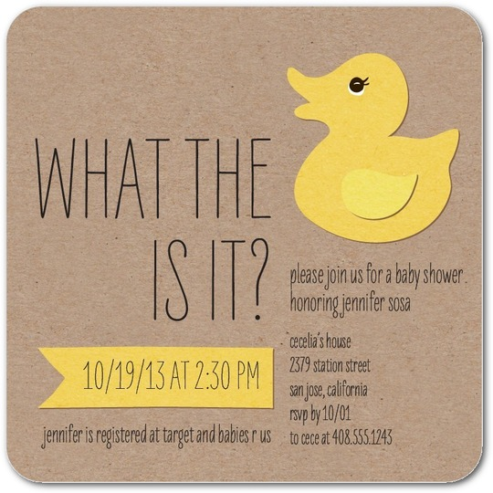 what the duck baby shower reveal funny invitations