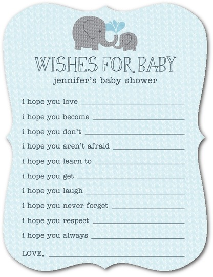 wishes_for_baby shower invite elephant