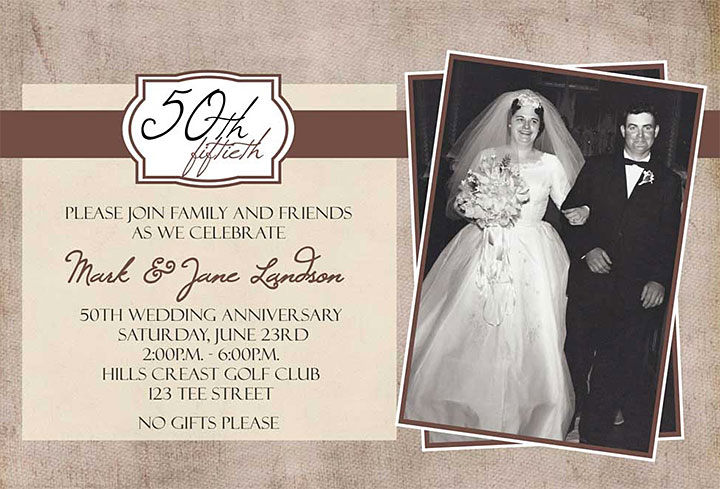 50th anniversary invite