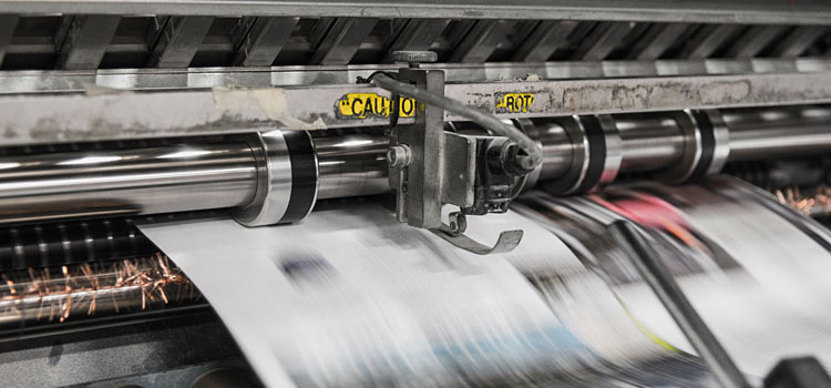 flyers printing press