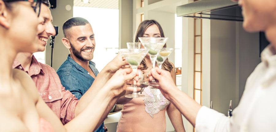 toast martinis